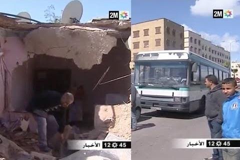بالفيديو: حافلة مجنونة تخترق منزلا بالبيضاء وتشرد ساكنيه