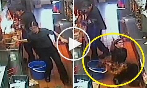 بالفيديو: مستخدمة بماكدونالدز تسقط في دلو مملوء بالزيت المغلي