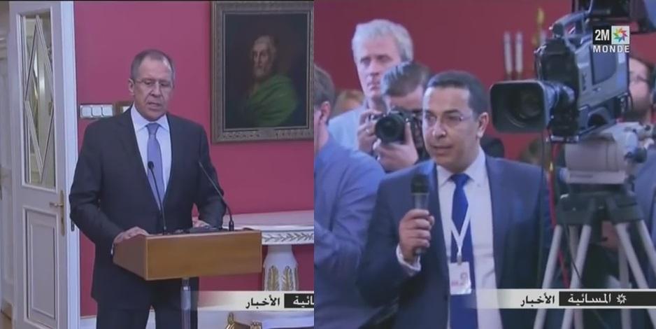 بالفيديو: صحفي ب2M يسأل وزير خارجية روسيا بروسية