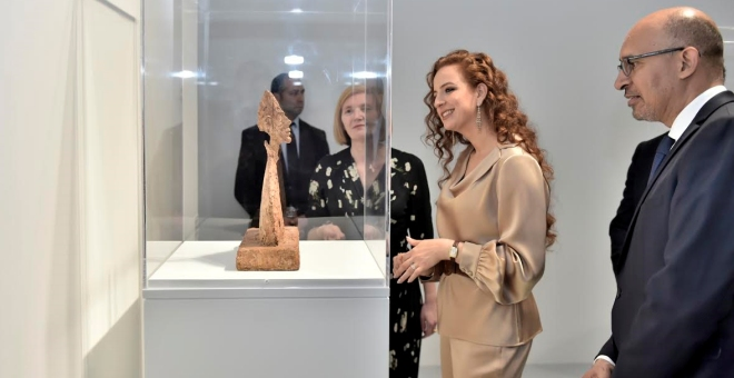 الأميرة للا سلمى تدشن في الرباط المعرض الاستيعادي للفنان ألبيرتو جياكوميتي