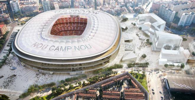 بالصور..برشلونة يكشف ملعب الكامب نو الجديد