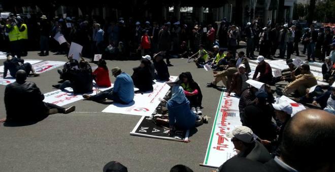 المتصرفون المغاربة يطالبون الحكومة بالتجاوب مع ملفهم المطلبي