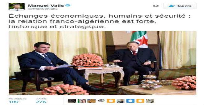 موقع فرنسي: تغريدة فالس تعيد خلافة بوتفليقة إلى الواجهة