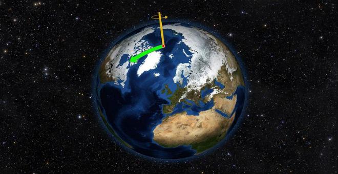دراسة : انحراف محور دوران الأرض باتجاه الشرق