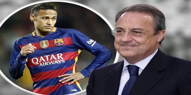 رئيس ريال مدريد يستغل أزمة نيمار مع برشلونة