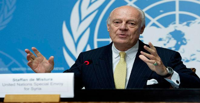 دي ميستورا يستغيث بأمريكا وروسيا لإنعاش الهدنة في سوريا