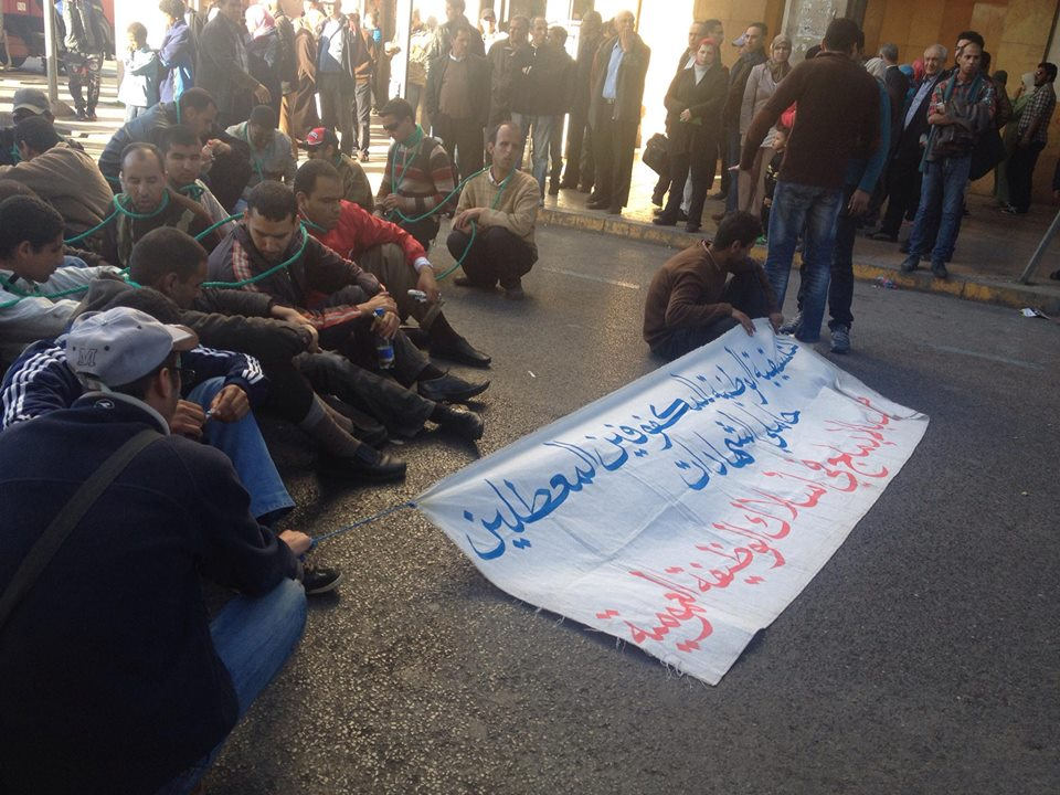 تنسيقية المكفوفين حاملي الشهادات يهددون بإضرام النار!