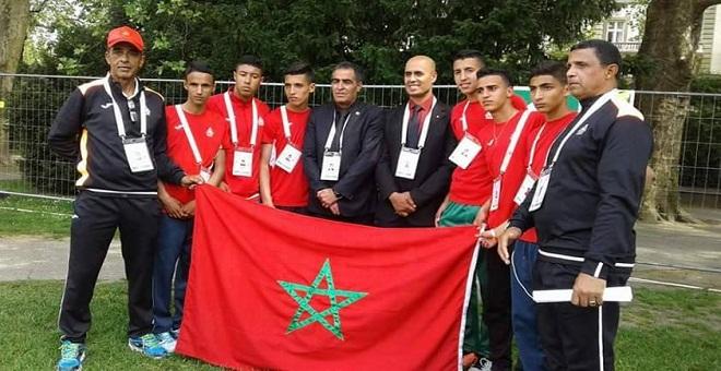 المنتخب الوطني المغربي للعدو الريفي المدرسي يحرز بطولة العالم