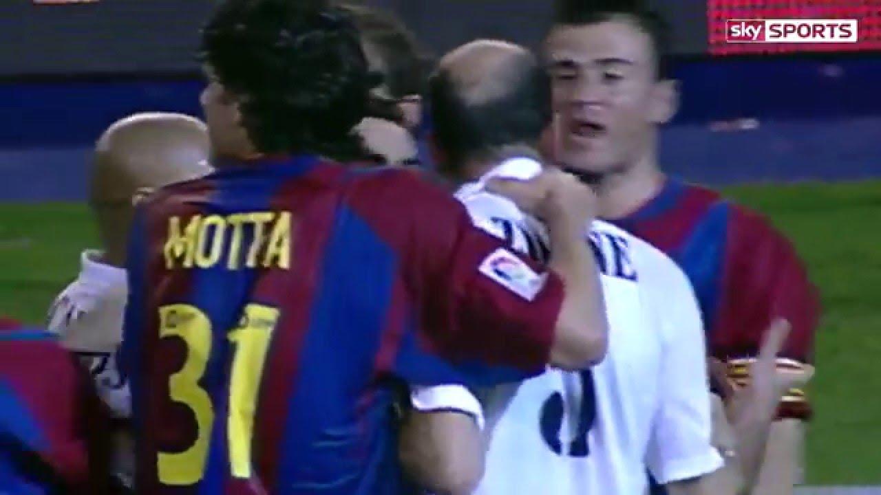 بالفيديو.. ملاكمة بين زيدان ولويس انريكي في 2003