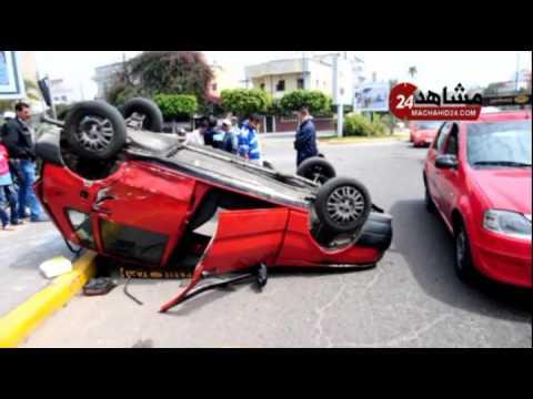 بالفيديو.. حادثة سير مروعة بالدارالبيضاء