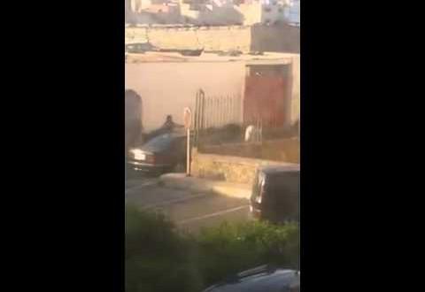 بالفيديو..مجرم خطير بالرباط يجبر الأمن على استخدام الرصاص لايقافه
