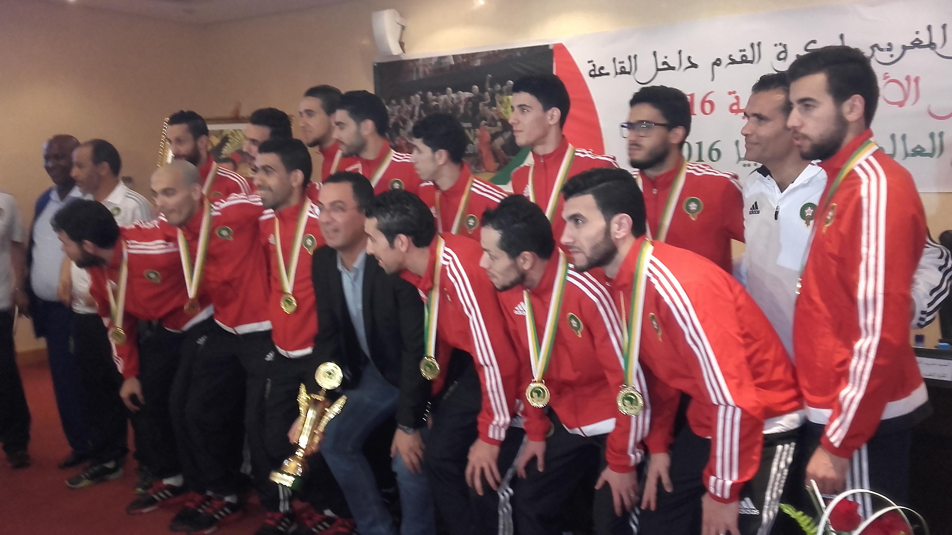 وزارة الشباب تكرم عناصر المنتخب الوطني
