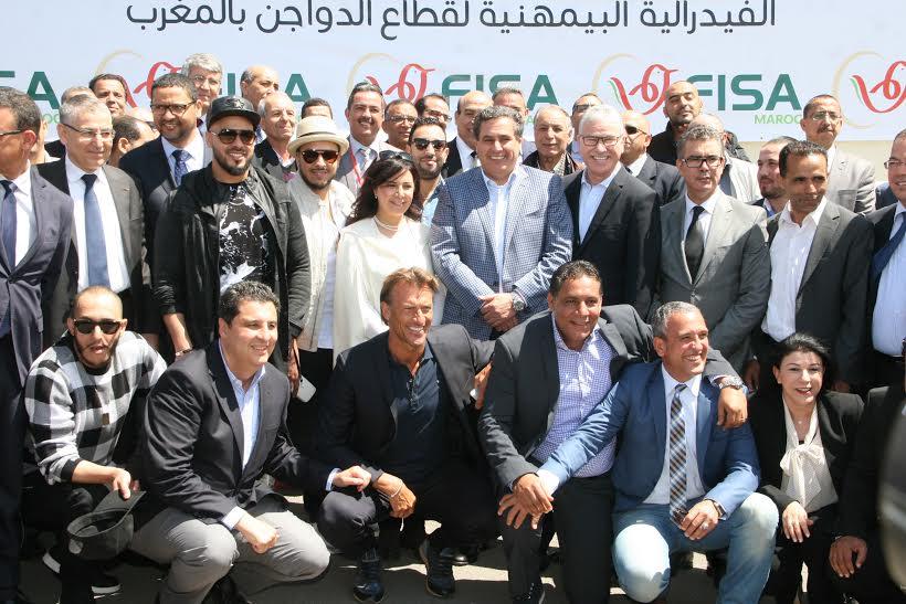 بالصور. أخنوش والوردي ومشاهير مغاربة يدعمون قطاع الدواجن
