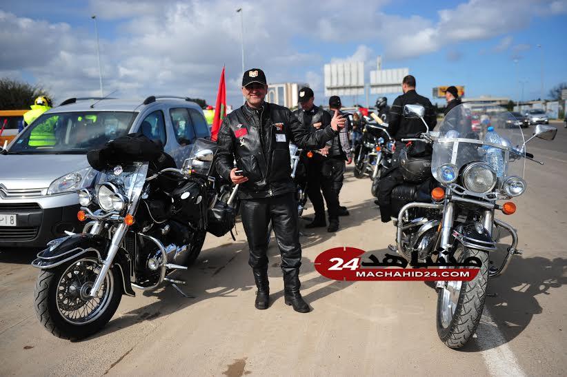 بالصور. دراجون مغاربة يحتجون ضد بان كي مون بطريقتهم الخاصة