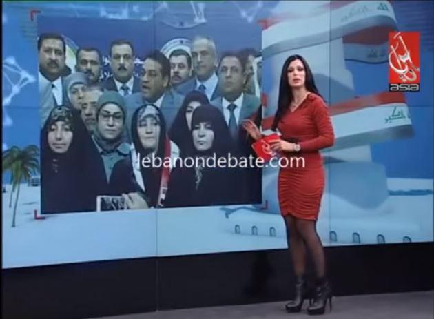 مذيعة لبنانية تفقد الوعي وتسقط على الهواء