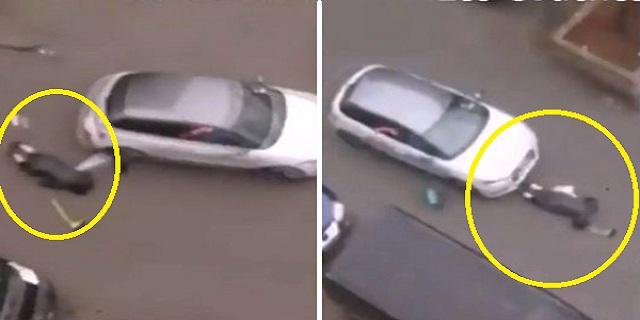 فيديو صادم: لحظة صدم سيارة لمرأة محجبة في بروكسل