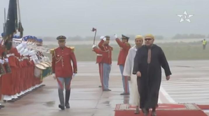 لحظة مغادرة الملك محمد السادس أرض الوطن متوجها للسعودية