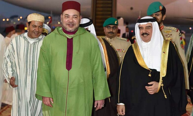بالفيديو.. استقبال خاص للملك محمد السادس بالبحرين
