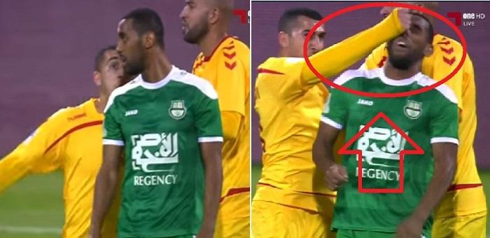 بالفيديو: اعتداء وحشي على محسن ياجور من طرف لاعب في الدوري القطري