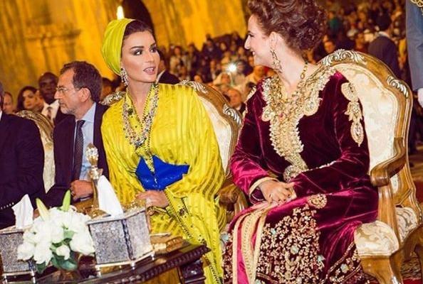 ابستامة-من-الأميرة-للا-سلمى-للشيخة-موزة-594x400