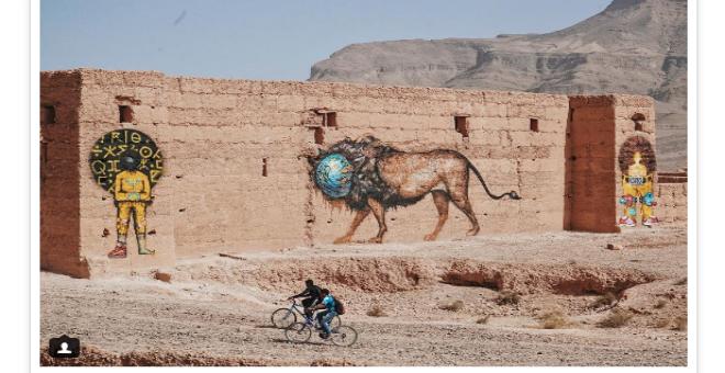 بالصور. فنانون أمريكيون يزينون جدران المغرب العتيقة بلوحات رائعة