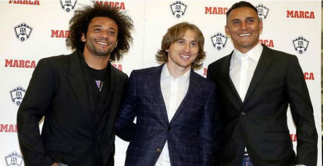بالصور.. لاعبو ريال مدريد يستحوذون على جوائز الماركا