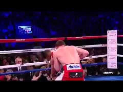 بالفيديو.. ضربة قاضية من الملاكم ألفاريز تسقط خان
