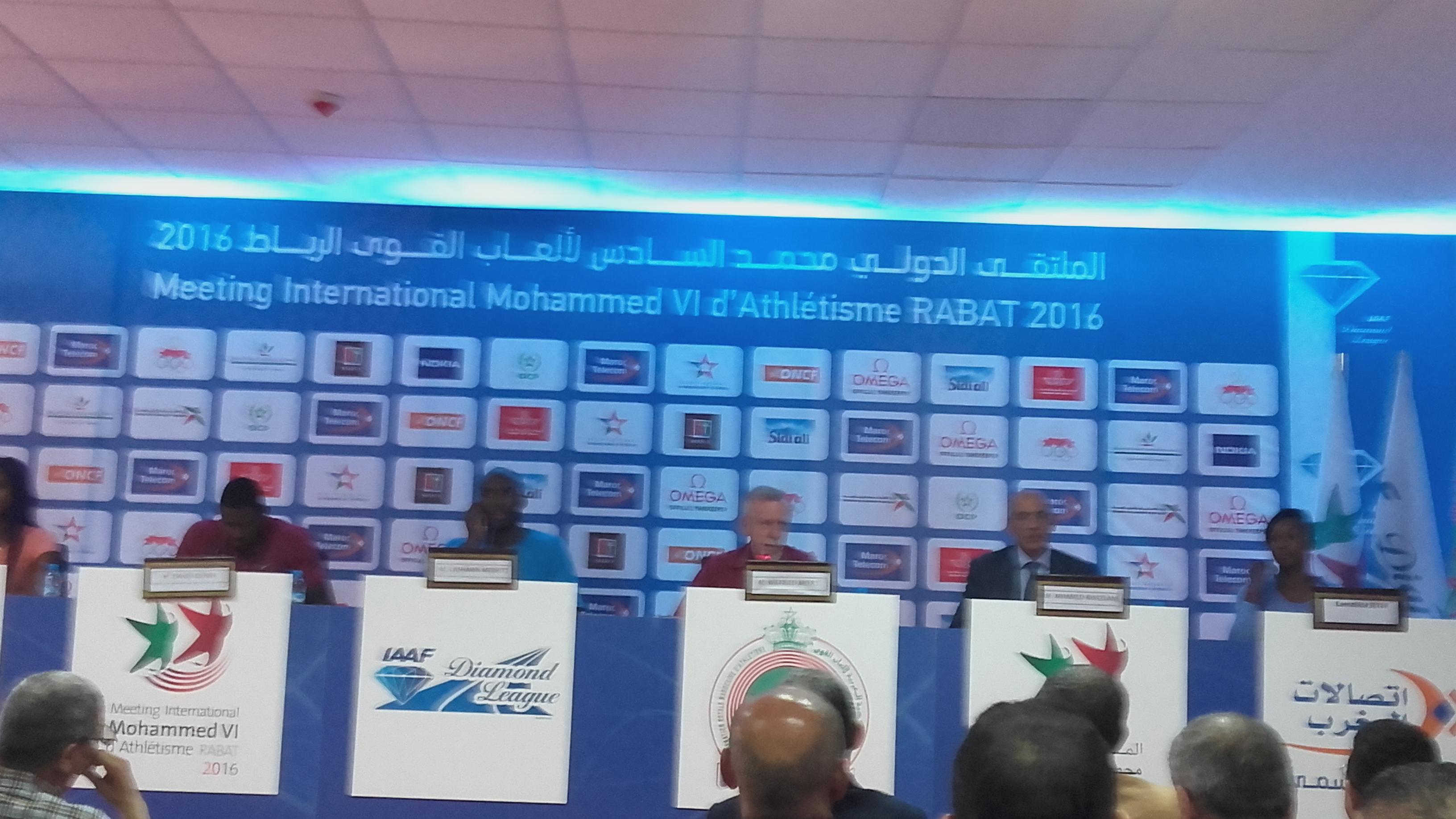 تقديم العدائين الأجانب المشاركين في ملتقى محمد السادس