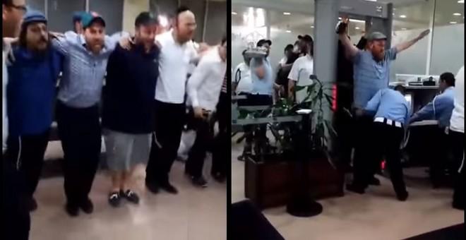 فرحة اليهود المغاربة بمطار محمد الخامس بعد دخولهم المغرب لأول مرة