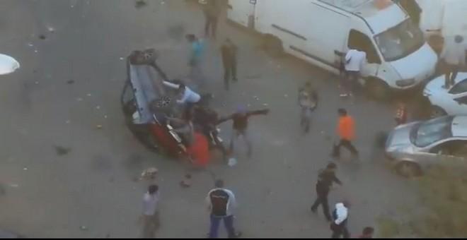 بالفيديو.. شغب الجماهير بعد مباراة الوداد والفتح بجمعة سحايم