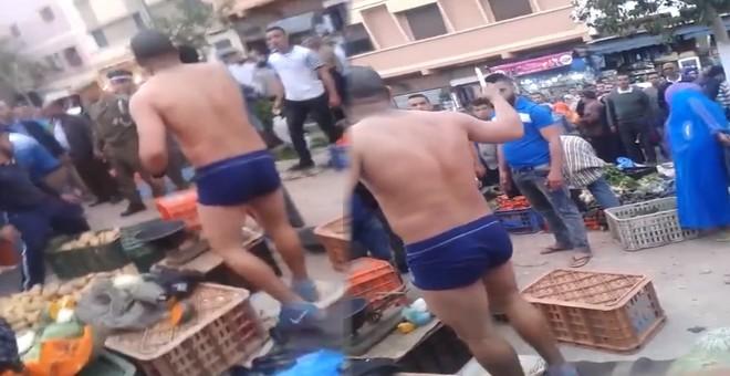 مواطن مغربي يهدد بذبح نفسه أمام رجال القوات العمومية بإنزكان