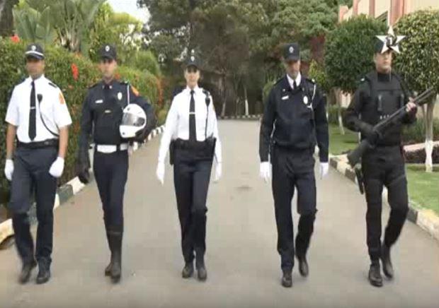 أول ظهور للزي الجديد الخاص بالشرطة المغربية