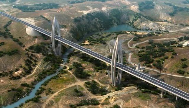 أشغال جسر أبو رقراق المعلق تقترب من نهايتها