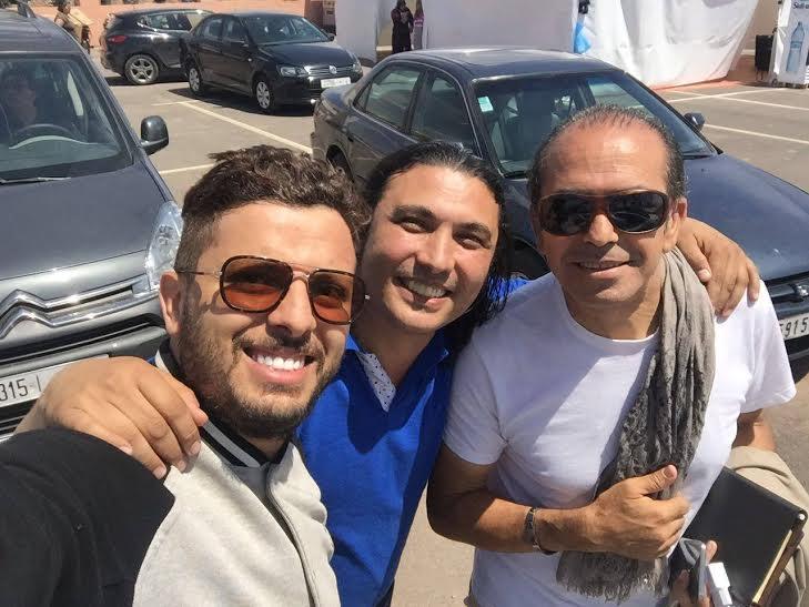 الفنان نبيل الخالدي يشرف على حفلات حاتم عمور