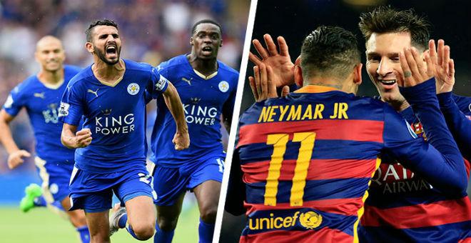 برشلونة يواجه بطل إنكلترا الجديد ليستر سيتي