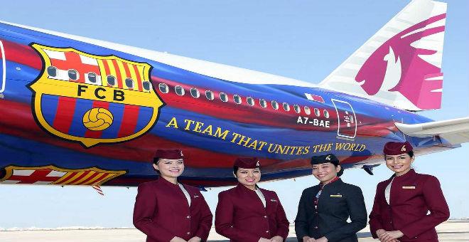 برشلونة يتلقى عرضي رعاية لخلافة طيران قطر