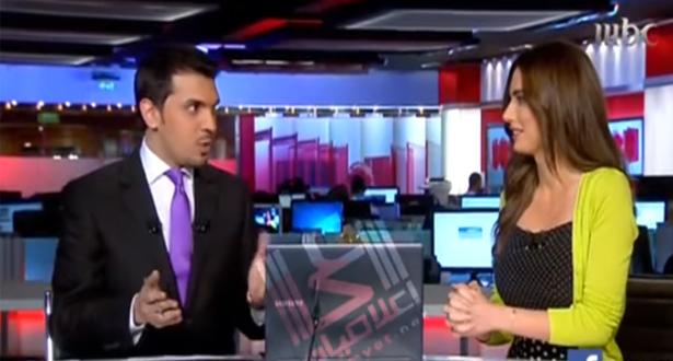 مذيعة تطلب من زميلها بقناة mbc طلب غريب على الهواء