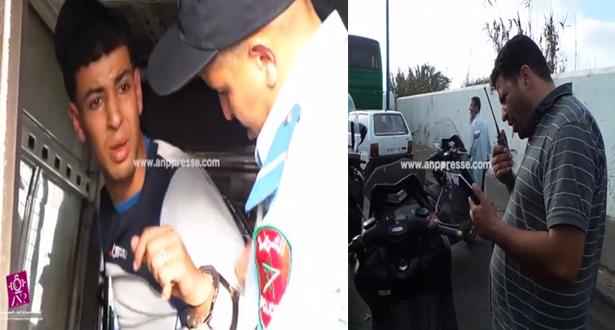 بالفيديو.. لحظة توقيف سارق بحوزته هواتف نقالة بالبيضاء