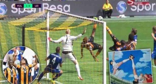 اهداف مباراة ليستر سيتي وهال سيتي 1-2 ( هدف على طريقة الكابتن ماجد )