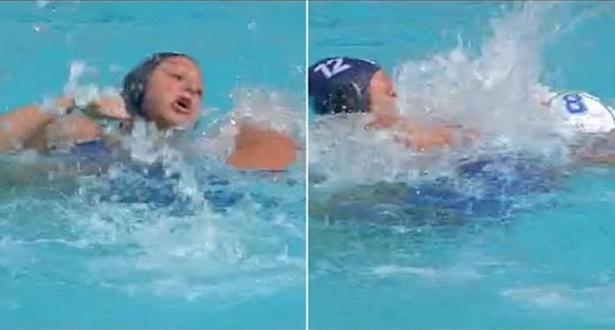 فيديو.. مباراة كرة الماء النسائية تتحول إلى حلبة ملاكمة