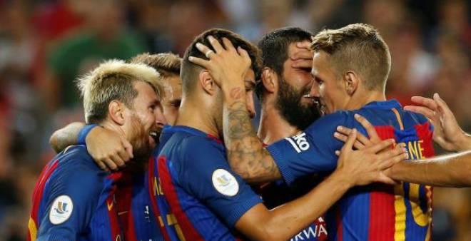 برشلونة بطلا للسوبر الإسباني بعد احكتساحه لإشبيلية
