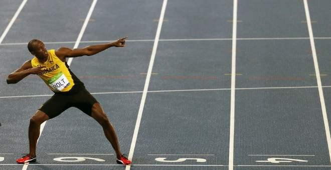بولت يفوز بثاني ذهبية له في ريو والثامنة في مسيرته الأولمبية