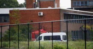 انفجار قنبلة في معهد الجريمة
