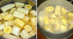 الموز المغلي