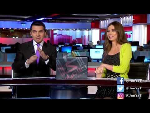 مذيعة تتعرض لموقف جد محرج عند ممازحة زميلها.. شاهدوا ردة فعلها!!