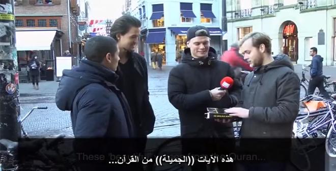 هولنديان يغلفان الانجيل و يخبرا الناس على أنه القرآن والمفاجئة!!