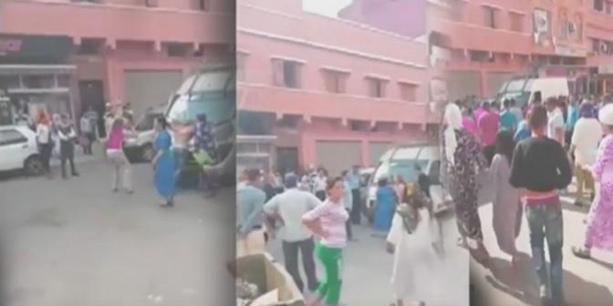 فيديو.. احتجاج فتيات على الأمن ببني ملال