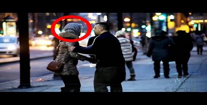 ماذا سيفعل الناس عندما يشاهدون فتاة محجبة تتعرض للضرب فى كندا