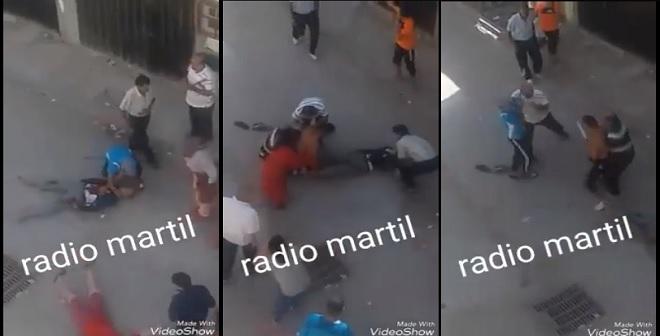 فيديو.. لحظة وقوع جريمة قتل بحي الديزة بمرتيل