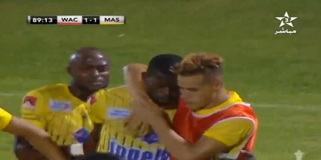 شاهد ماذا فعل لاعب المغرب الفاسي بعد تسجيل هدف التعادل على الوداد